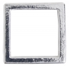 Metal 19mm Square Frame with 2 Hole Shiny Silver